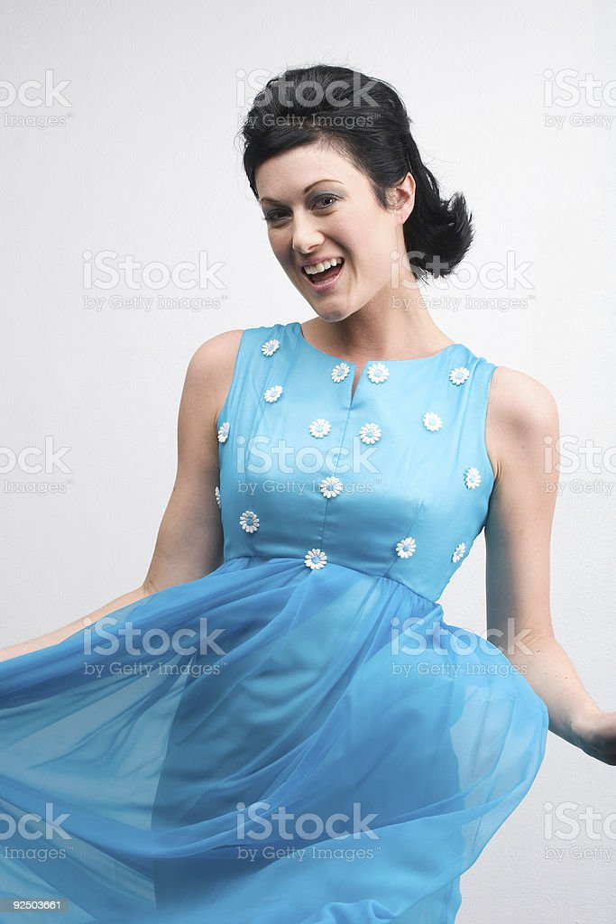 The 50's Prom Lady royalty-free stock photo