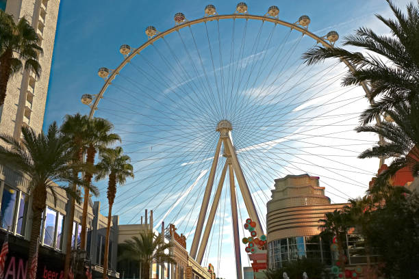 the 520-foot diameter high roller is the world's largest observation wheel - diameter stock pictures, royalty-free photos & images