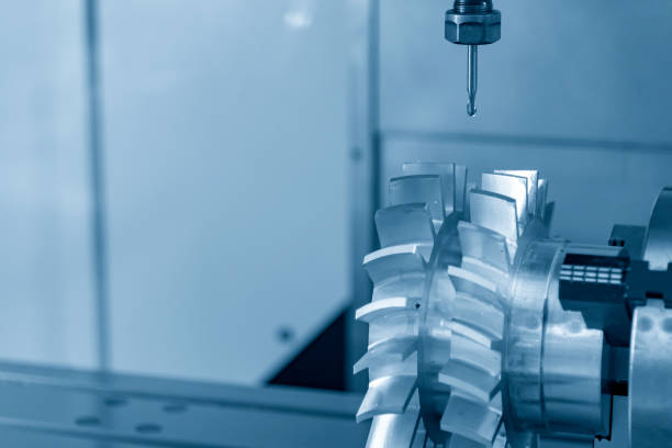 The 5-axis CNC milling machine stock photo