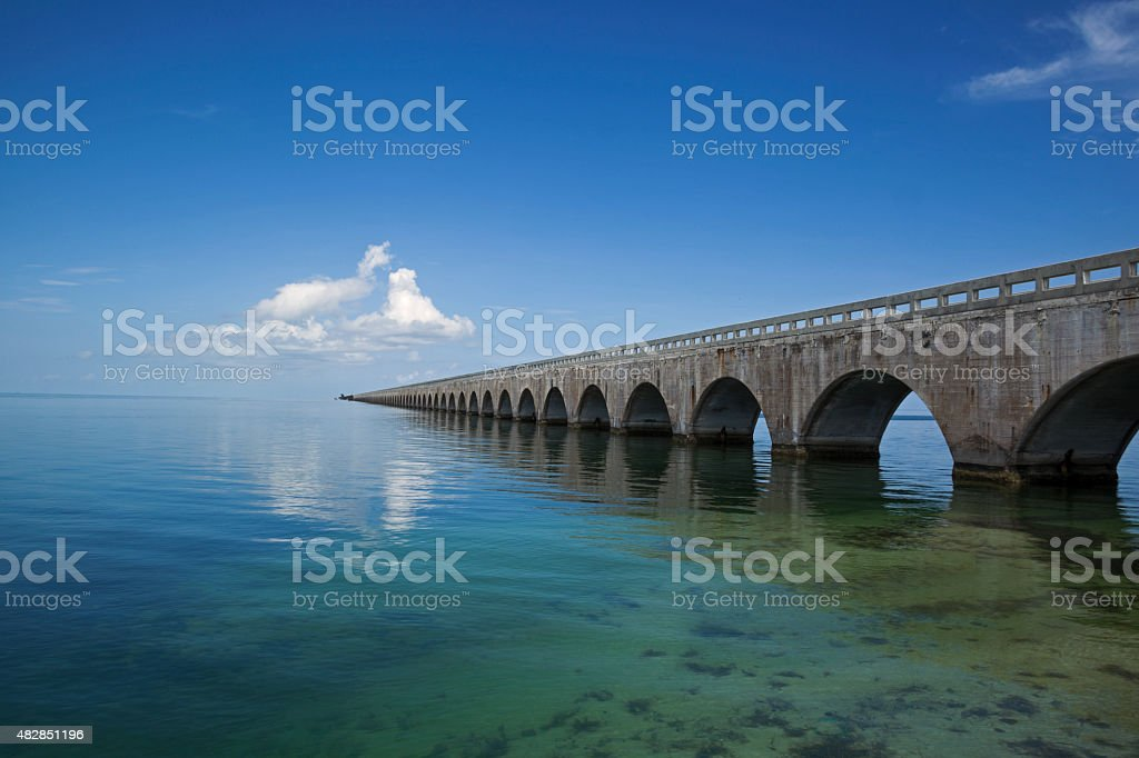 The 7 Mile Bridge, Key West Florida stock photo