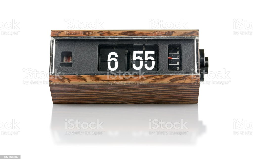The 70s. digital flip clock stock photo