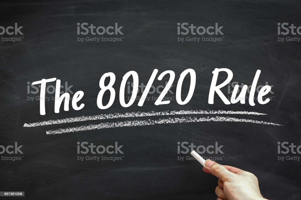 The 80 20 Rule stock photo