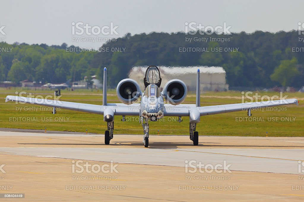 The A-10 Thunderbolt II at Langley AFB stock photo