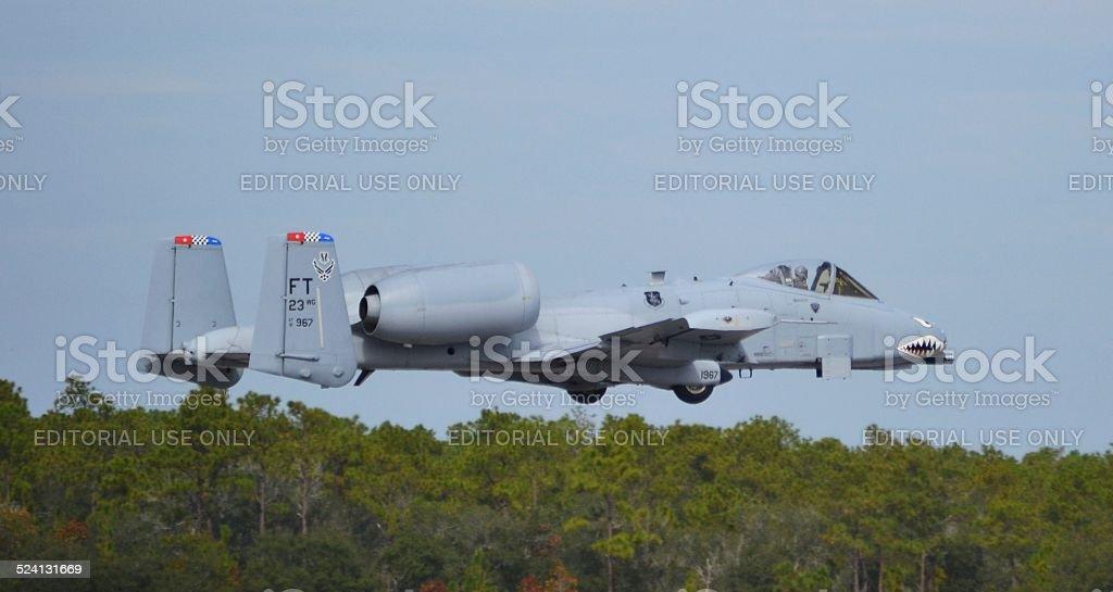 The A-10 Warthog/Thunderbolt II stock photo