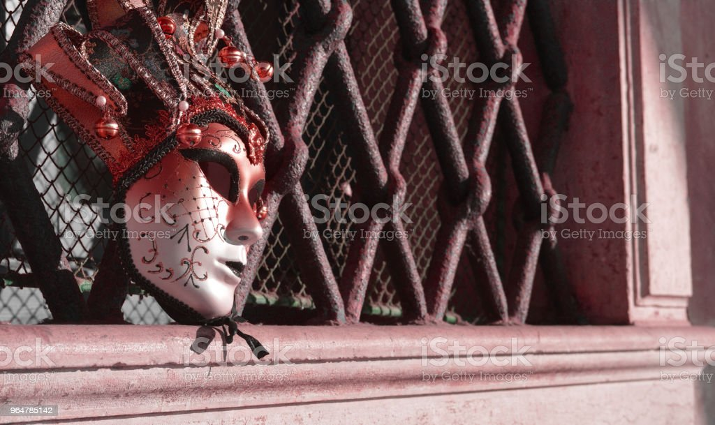 The abandoned carnival mask royalty-free stock photo