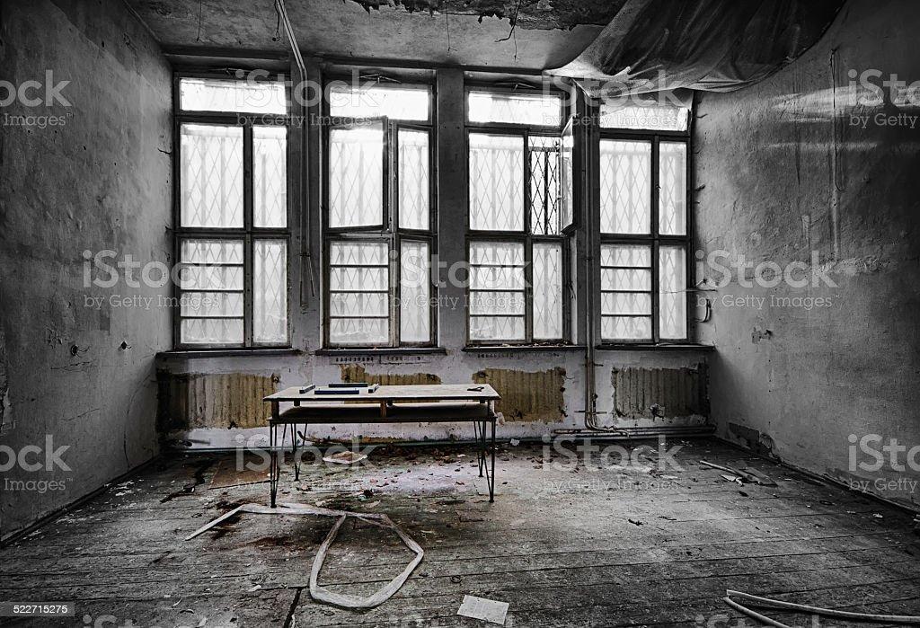 The abandoned school stock photo