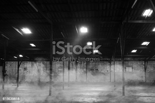 istock The abandoned warehouse. 615639818
