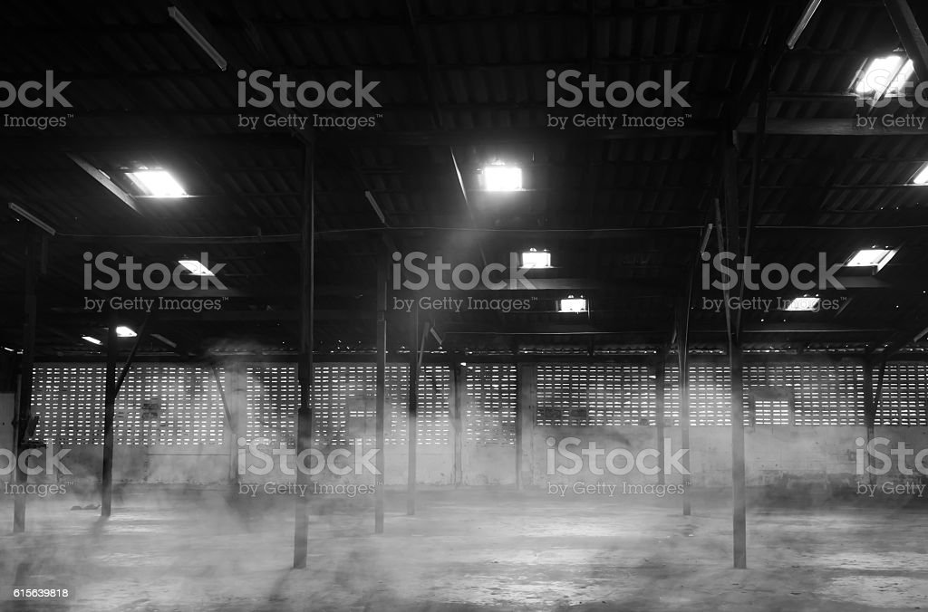 The abandoned warehouse. stock photo