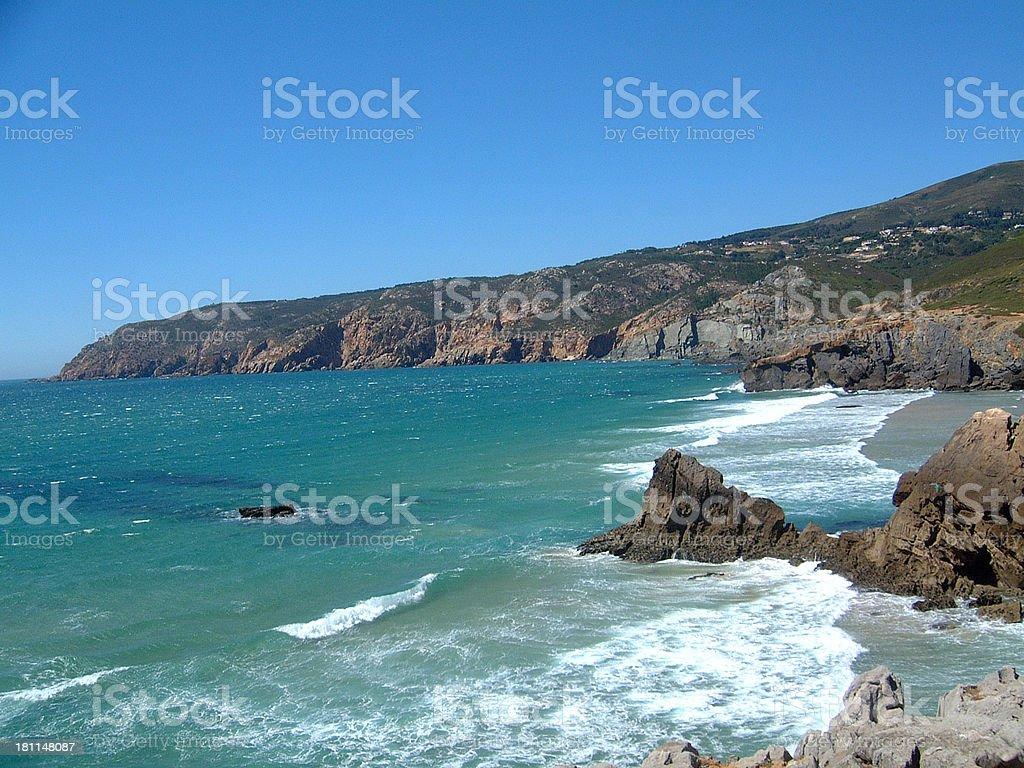 The Abano beach royalty-free stock photo