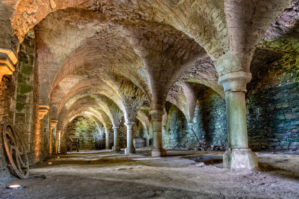The Abbey of Beauport in French Brittany stock photo