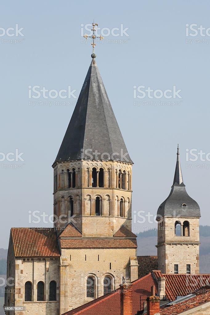 The abbey of Cluny in Burgundy stock photo