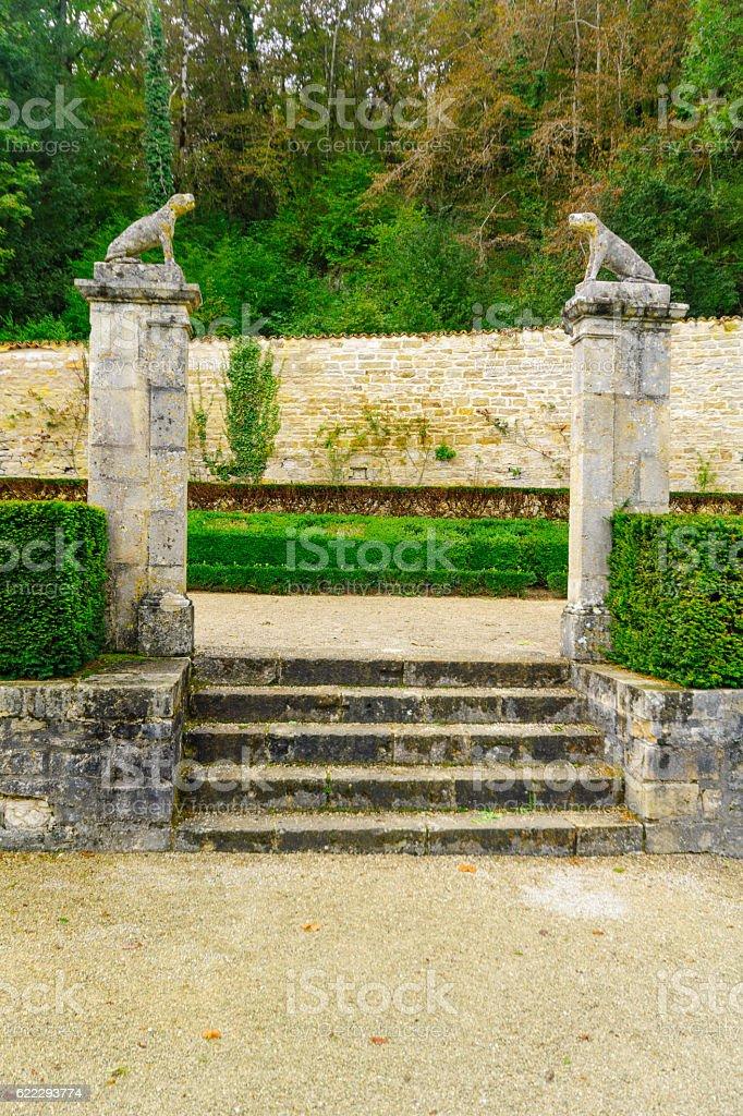 The Abbey of Fontenay stock photo