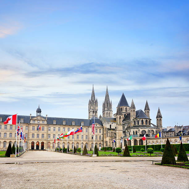 the abbey of saint-etienne, caen, france - caen stock pictures, royalty-free photos & images