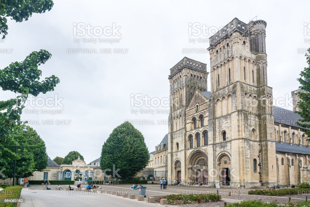 The Abbey of Saint-Trinity in Caen stock photo
