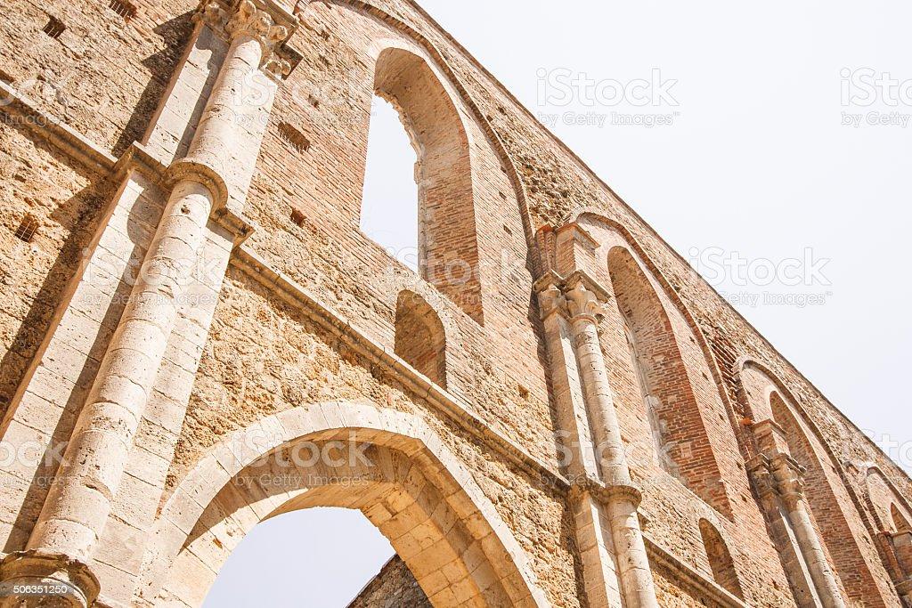 The abbey of San Galgano stock photo