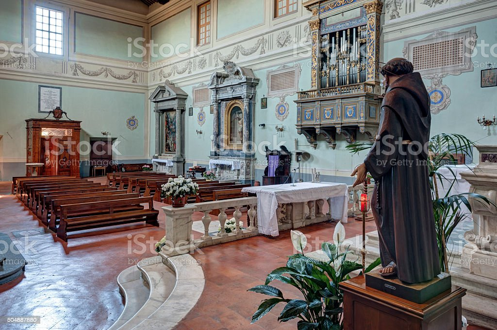 The Abbey of San Salvatore stock photo