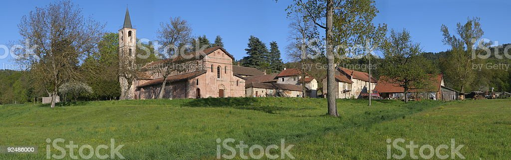 The Abbey of Tiglieto royalty-free stock photo