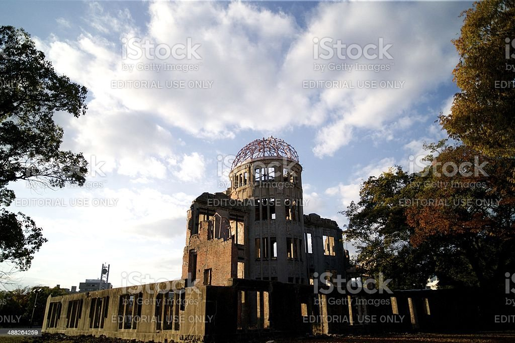 The A-Bomb Dome in Hiroshima, Japan royalty-free stock photo