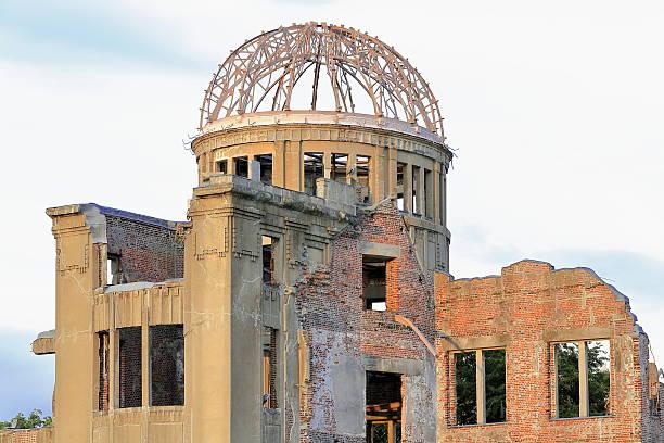 the a-bomb dome or genbaki dome. hiroshima-japan. 6653 - hiroshima zdjęcia i obrazy z banku zdjęć