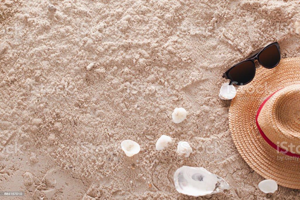 Het abstracte tropische zandstrand royalty free stockfoto