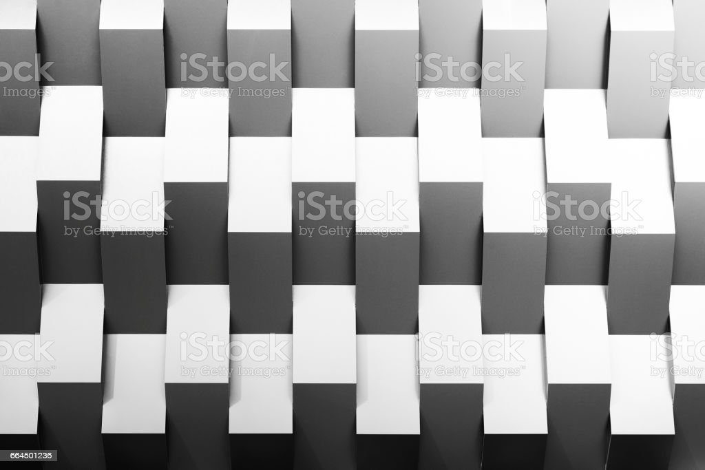 The abstract scene of geometry wall stock photo