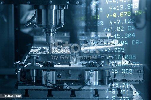 istock The abstract scene of the CNC machining center and the G-code data background. 1168610150