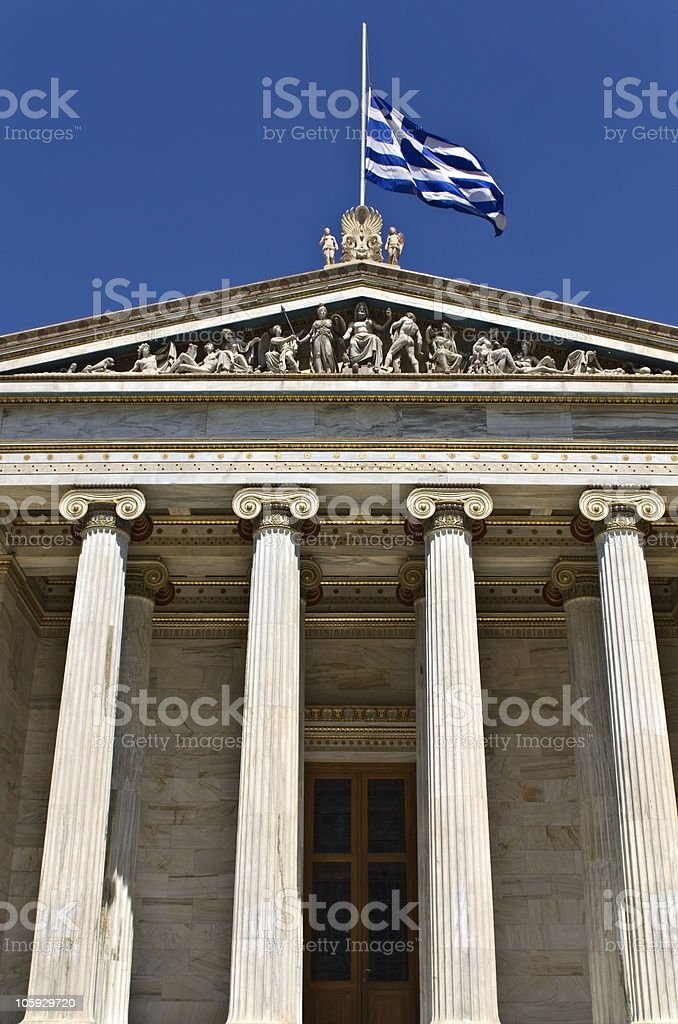 The Academy of Athens at Greece royalty-free stock photo