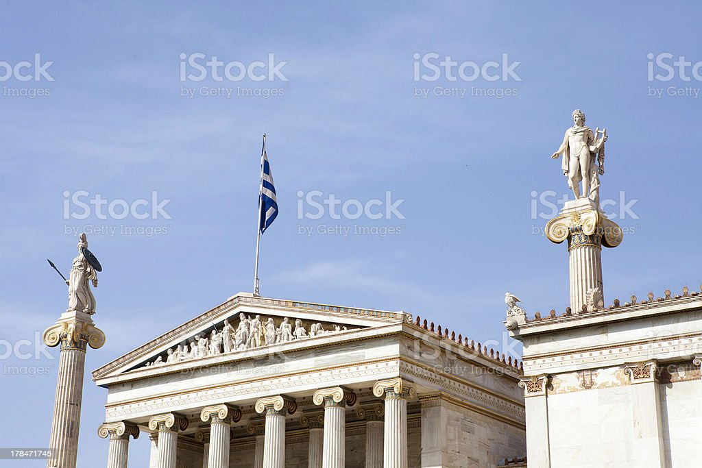 The Academy of Athens royalty-free stock photo