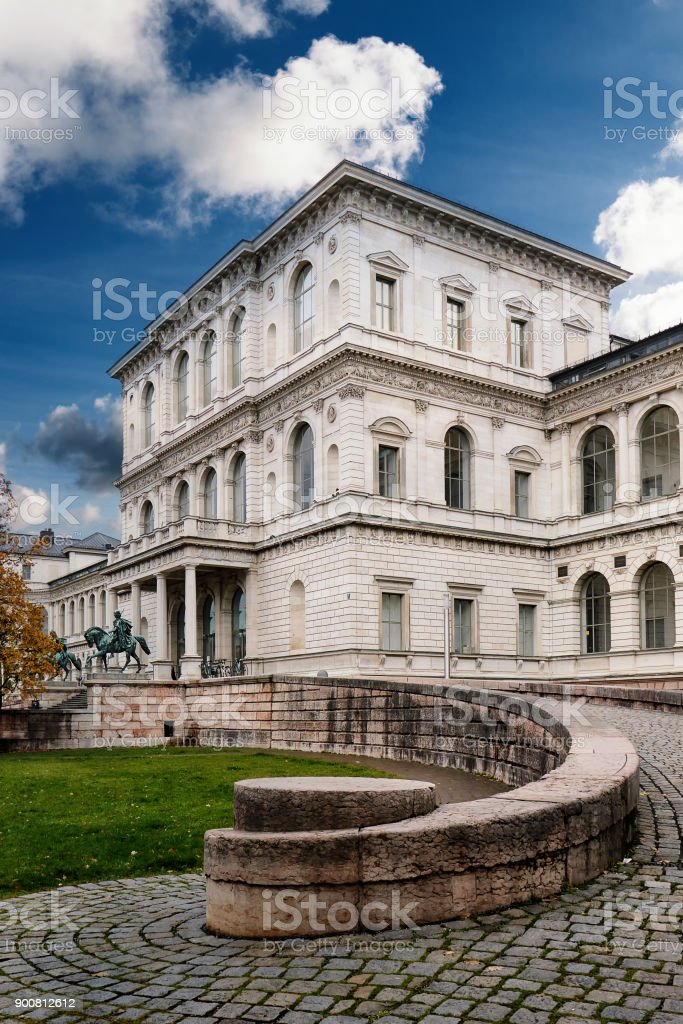The Academy of Fine Arts in Munich stock photo