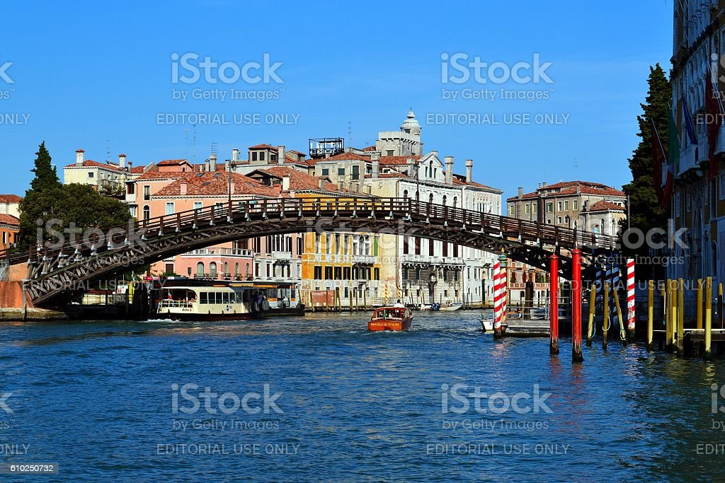 The Accademia Bridge stock photo
