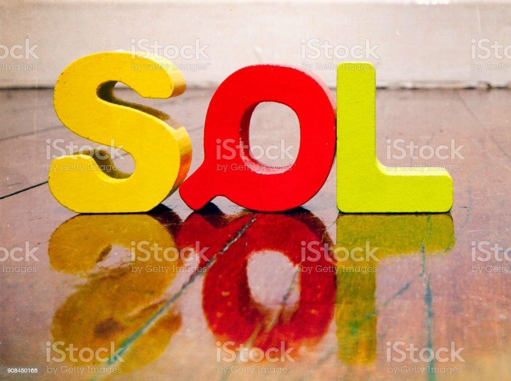 the acronym SQL stock photo