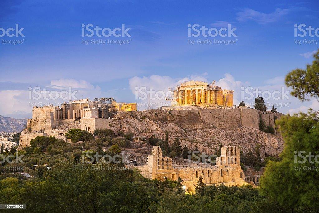 The acropolis , Athens, Greece stock photo