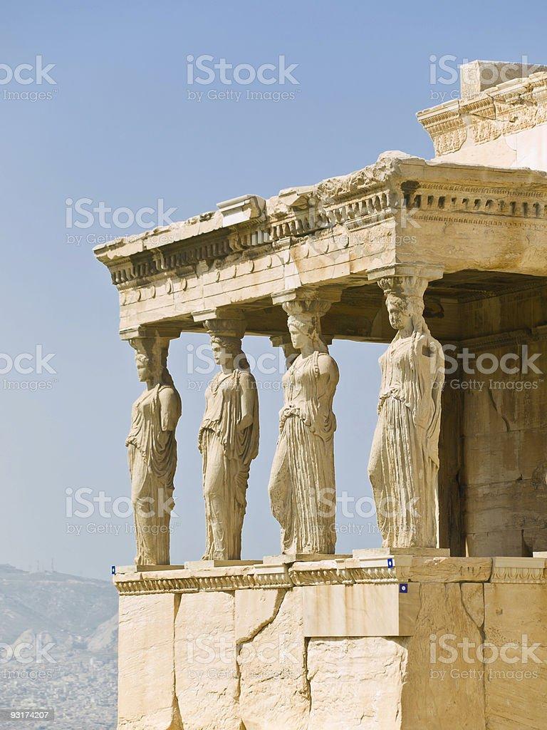 The acropolis, Erectheion royalty-free stock photo