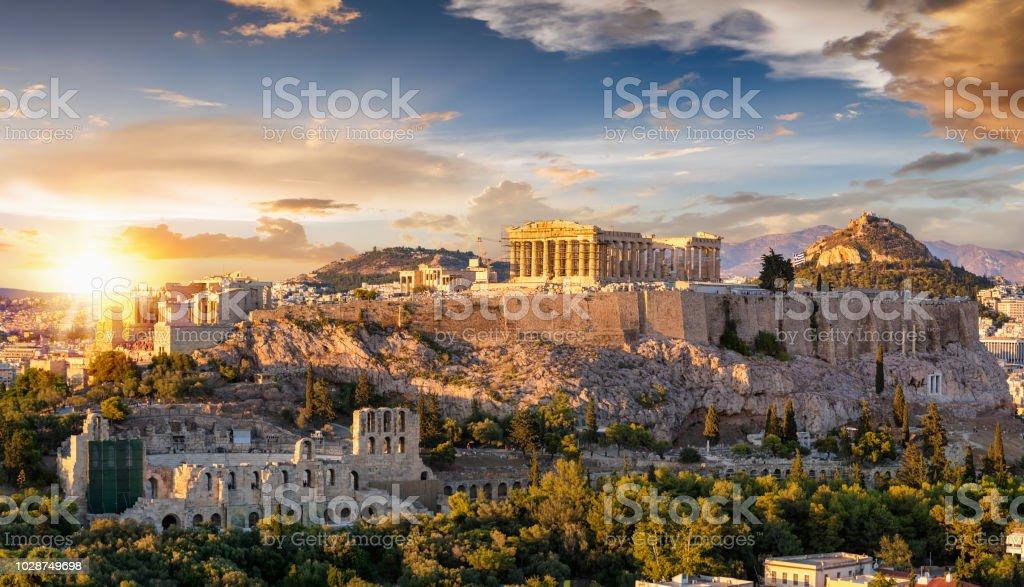 The Acropolis of Athens, Greece stock photo