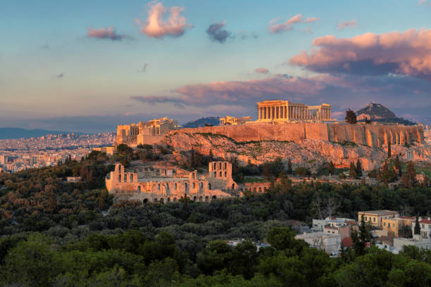 The Acropolis of Athens, Greece. stock photo