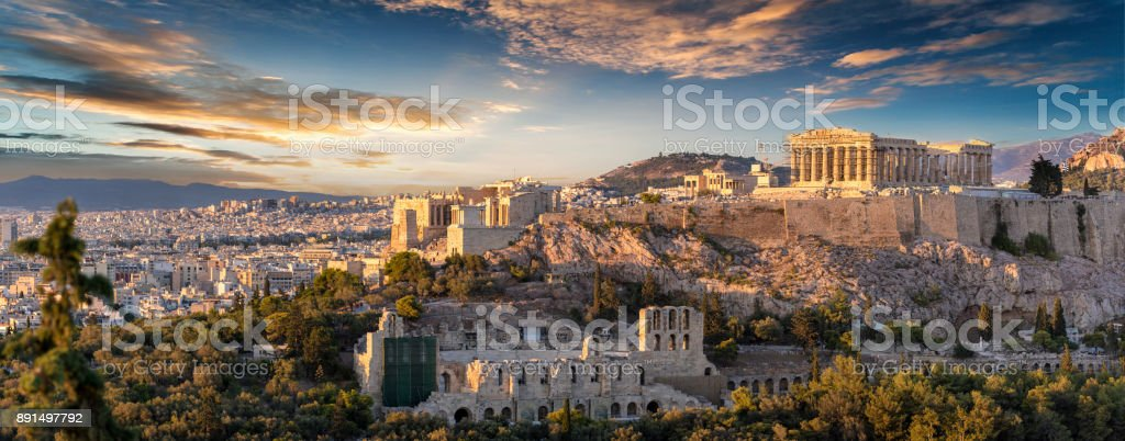 The Acropolis of Athens, Greece stock photo