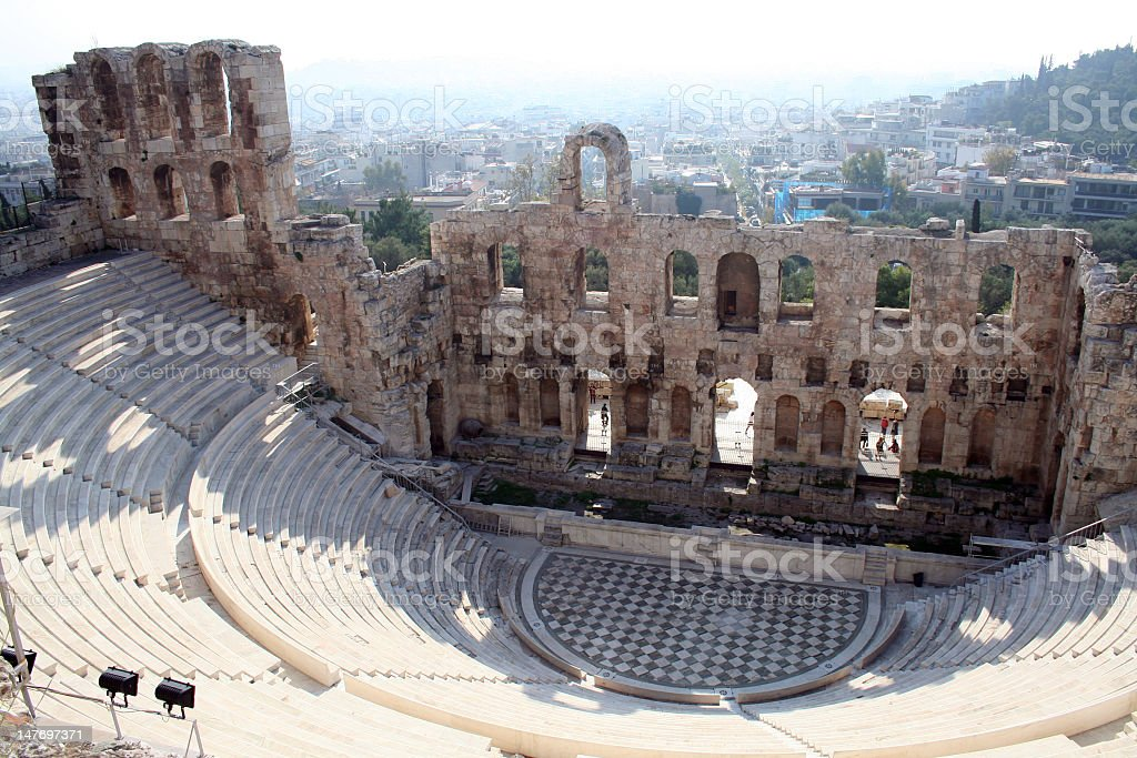 The Acropolis theater in Athens, Greece royalty-free stock photo