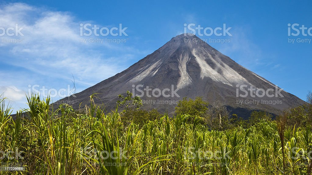 The Active Side of Arenal Volcano stock photo