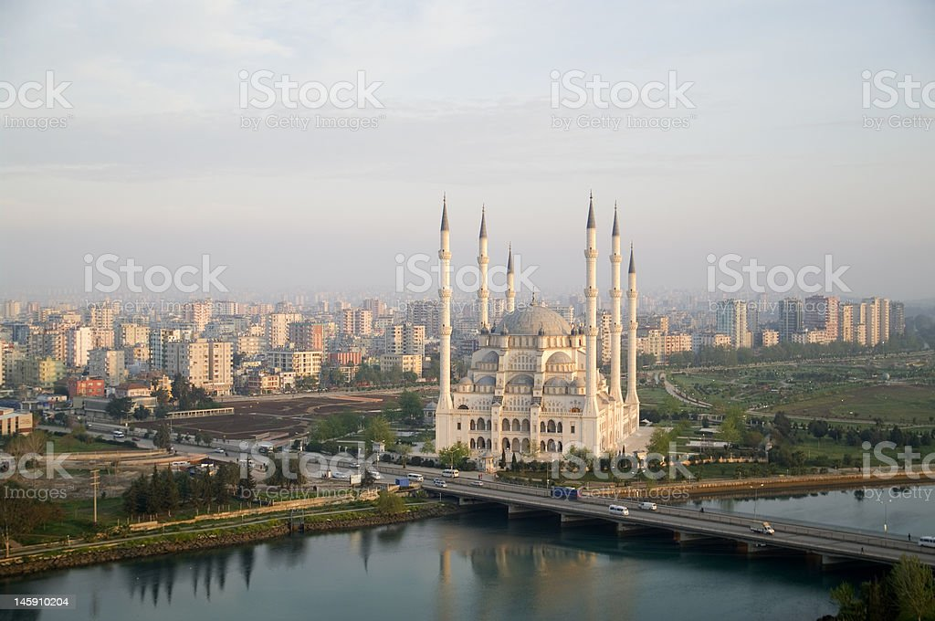 The Adana Mosque royalty-free stock photo