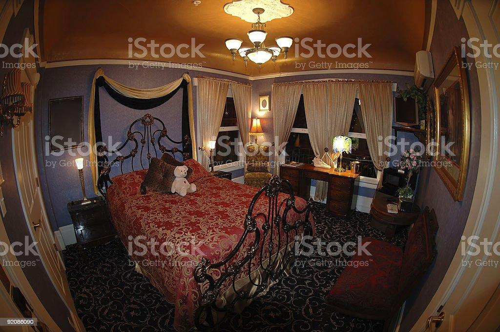 The Addams bedroom stock photo