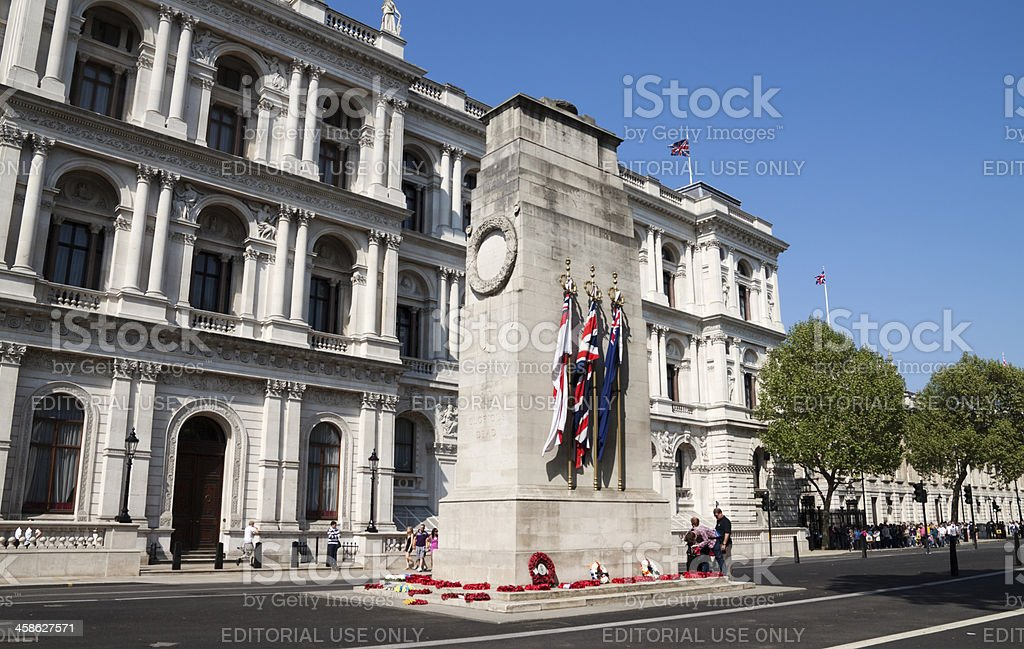 The Admiralty and Cenotaph, Whitehall royalty-free stock photo