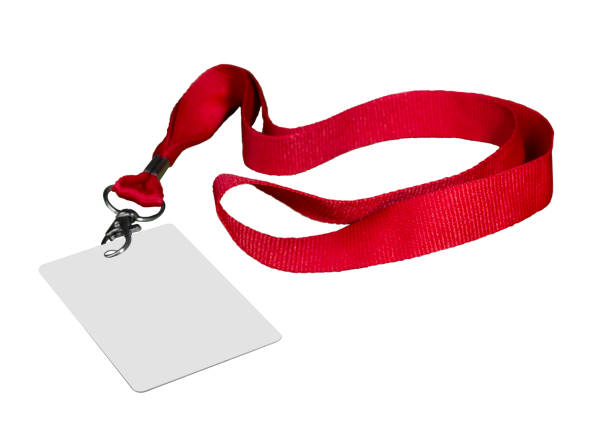 The admission with a thong The admission with a thong, is isolated on a white background security pass stock pictures, royalty-free photos & images