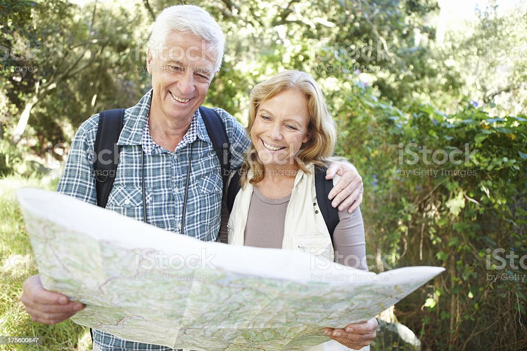 The adventure only begins after retirement stock photo