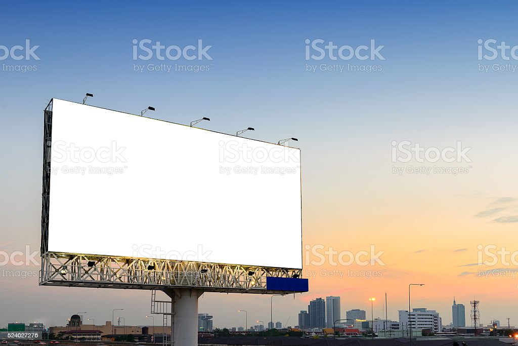 the advertisement board stock photo