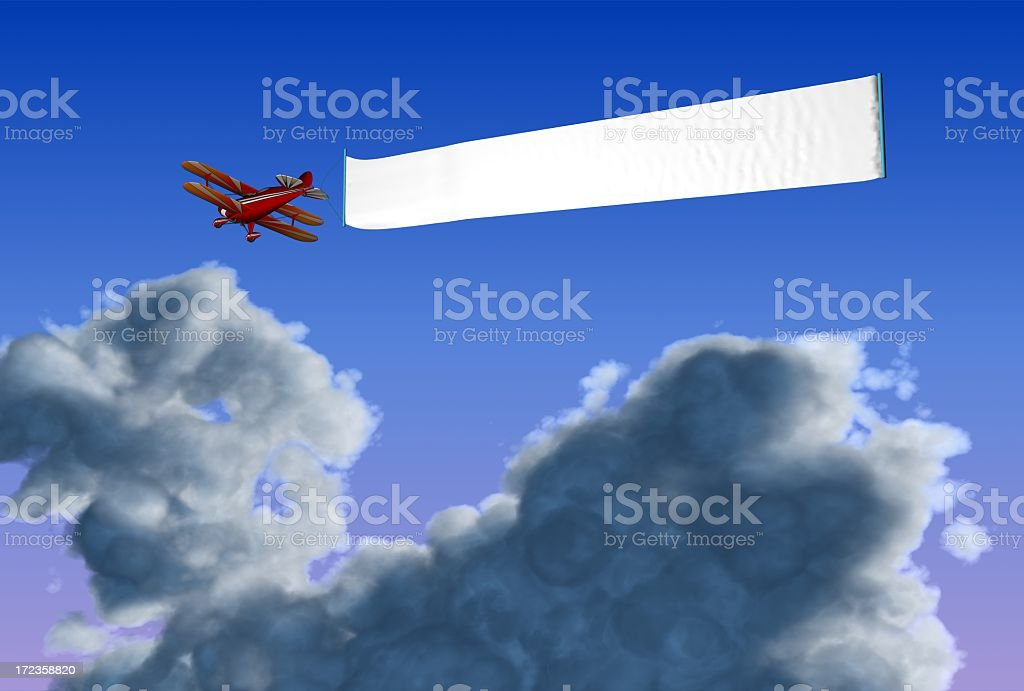The advertisement in a cloud royalty-free stock photo