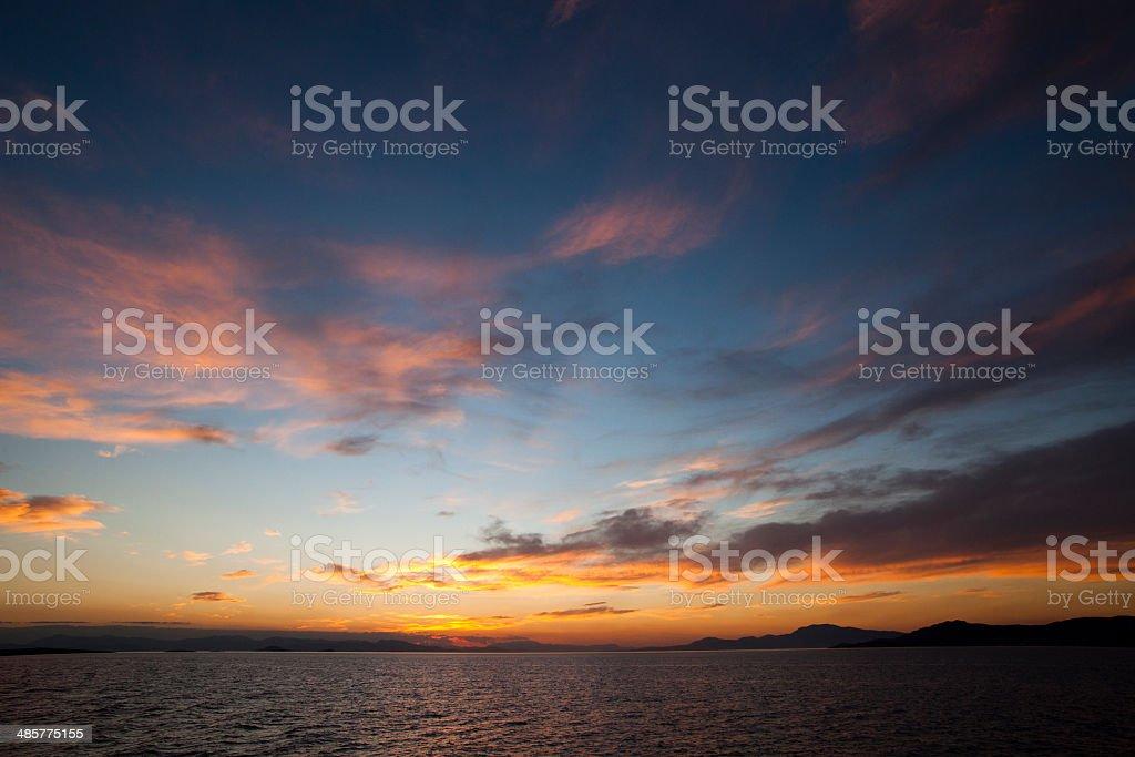 The Aegean sea sunset royalty-free stock photo