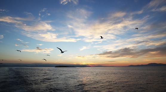 The Aegean sea sunset