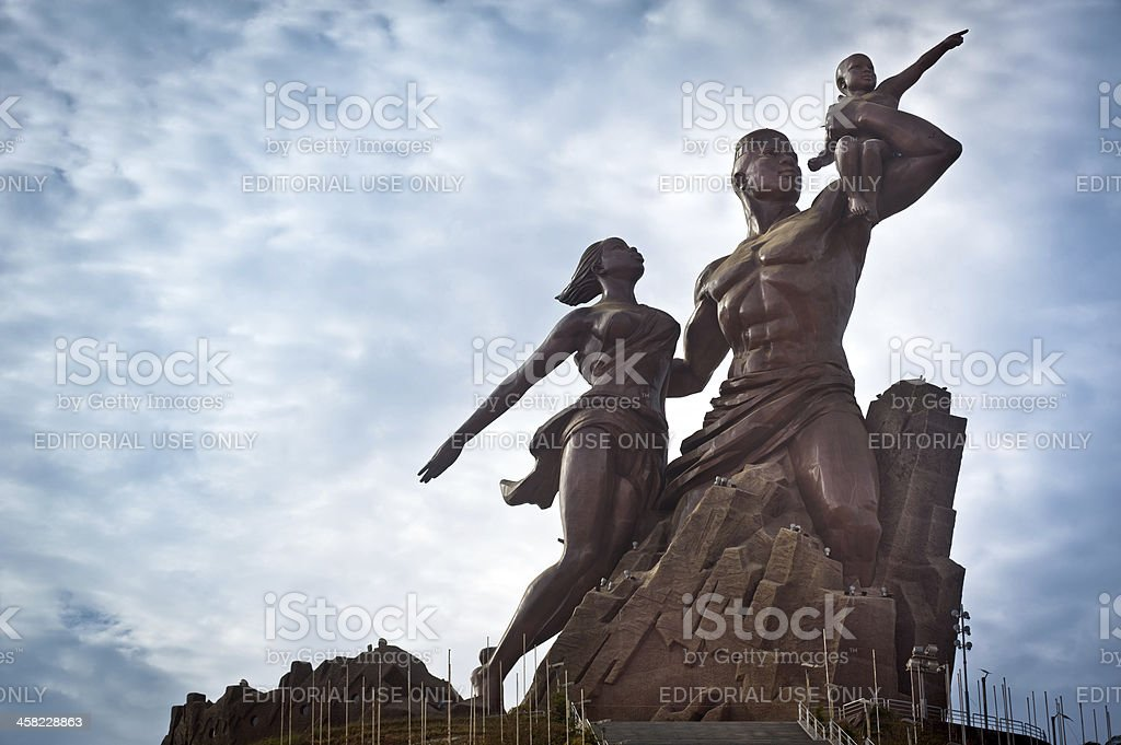 The African Renaissance Monument stock photo