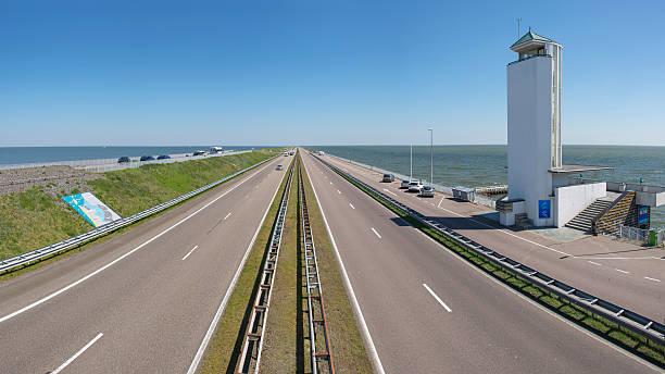 The 'Afsluitdijk' dike dam foto