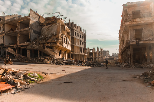 The Aftermath Of The War In Aleppo Syria Stock Photo - Download Image Now - iStock